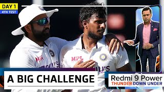 BIG CHALLENGE for India at THE GABBA   Redmi 9 Power presents 'Thunder Down Under'   4th Test Day 1