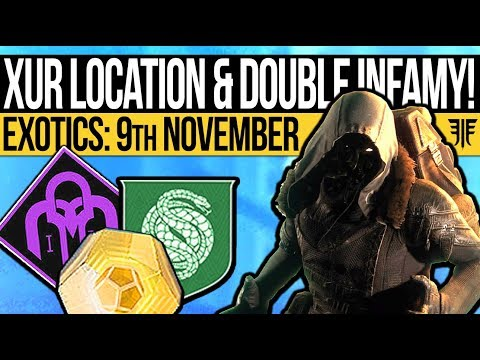 Destiny 2 | XUR'S LOCATION & EXOTIC ROLLS! Gambit Weekend, Exotic Weapon & Perk Rolls (9th November)