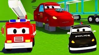 Devriye Aracı itfaiye kamyonu ve polis arabası ve Jerry'nin çalınmış tekerlekleri