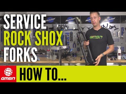 How To Service Rock Shox MTB Fork   Mountain Bike Maintenance