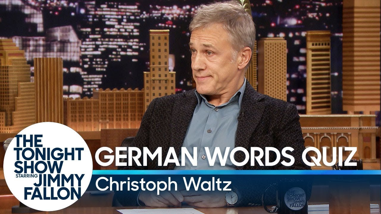 Download Christoph Waltz Gives Jimmy Fallon a German Words Quiz