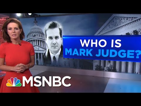 Who Is Mark Judge? | Velshi & Ruhle | MSNBC