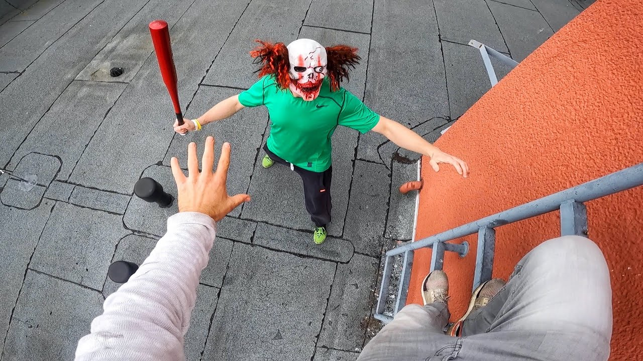 Horror Clowns VS Parkour POV | Halloween Chase IV