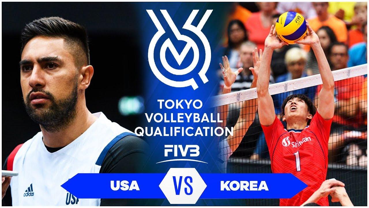 USA vs KOREA | Highlights Men | Volleyball Olympic Qualification 2019 (HD)