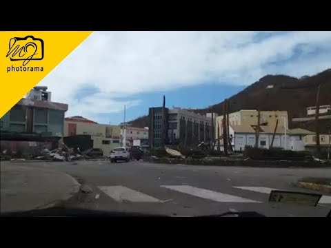 Driving Through Road Town, Tortola BVI 🇻🇬 After Hurricane Irma #bvistrong #onebvi