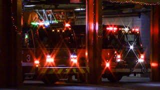 Chicago Fire Dept. Engine 42 & Truck 3 Responding X2