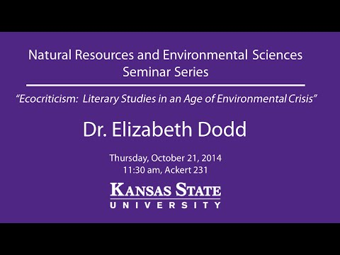 Ecocriticism:  Literary Studies in an Age of Environmental Crisis - NRES Seminar Series