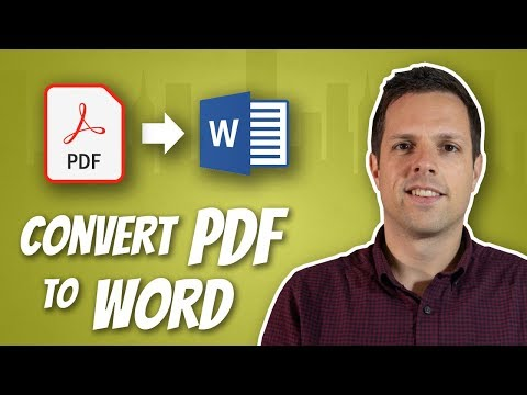 How to convert a PDF to a Word document, and edit it