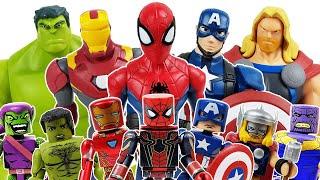 Avengers Minimates Defeat the Thanos Go Thor Hulk Spider-Man Iron Man Captain America