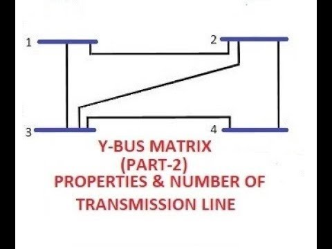 Y-BUS MATRIX (PART-2)(PROPERTIES/NUMBER OF TRANSMISSION LINE) GATE/IES/ISRO/BARC