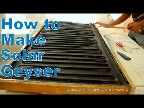 Homemade Solar Water Heater, Build solar geyser with Aluminum pipe