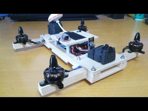 Wood FPV quadcopter