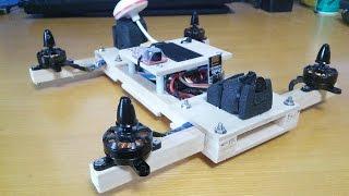 Wood FPV quadcopter