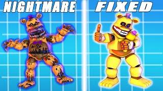 Fixed Vs WITHERED NIGHTMARE Animatronics