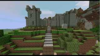 minecraft castle and gardens timelapse npg