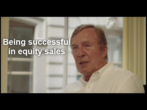 A former global head shares what skills you need for equity sales