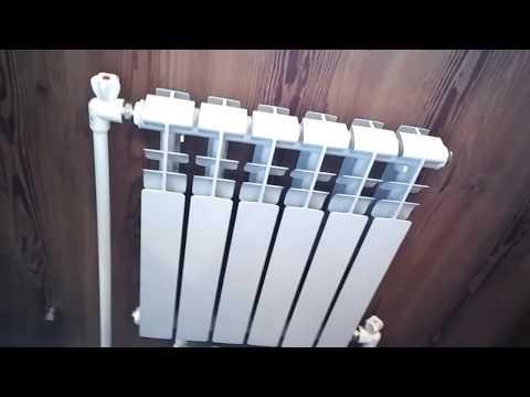 видео: подключение радиатора отопления