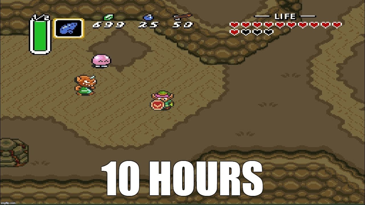 Legend of Zelda: A Link to the Past - Death Mountain (with wind) Extended  (10 Hours)