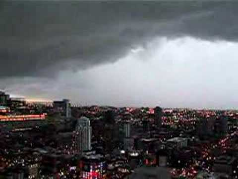 Tornado Warning High Above Downtown Chicago YouTube