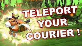 Dota 2 Tricks: How to Teleport Couriers! 7.20E update