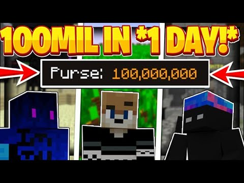 HOW WE MADE $100 MILLION COINS IN 1 DAY!! -- Hypixel Skyblock