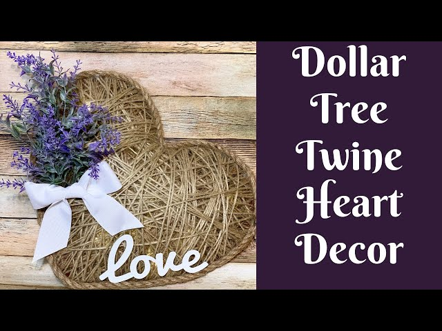 Dollar Tree Valentine's Day Crafts: Dollar Tree Twine Heart Decor