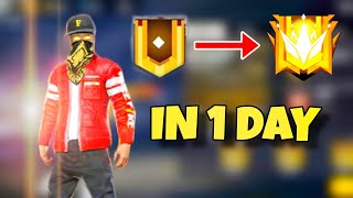 ROAD TO GRANDMASTER IN 1 DAY! FREE FIRE SEASON 18 | CRAZY HIGHLIGHTS| MUST WATCH | GARENA FREE FIRE😱