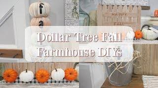 DOLLAR TREE FALL FARMHOUSE DIYS | FALL DECOR 2019