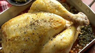 Курочка запеченная в духовке. Рецепт вкусной запеченной курицы.