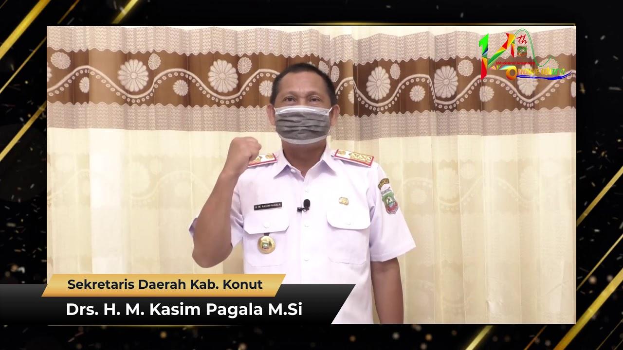 Ucapan HUT Ke-14 Kabupaten Konawe Utara Drs. H. M. Kasim Pagala M.Si