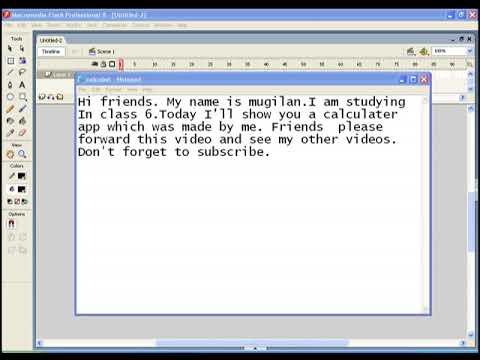 Flash calculator script.
