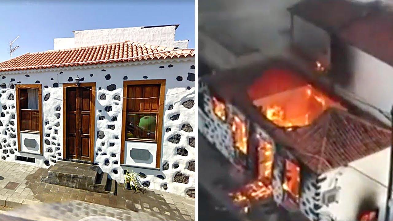 Download 🚨 ÚLTIMA HORA: Antes y Después del VOLCÁN de La Palma (RESCATE PERROS) Erupción Lava Volcánica 2021