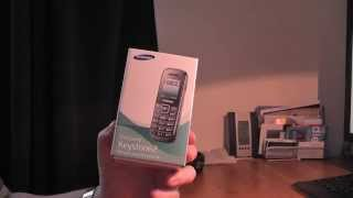 Samsung keystone 2 (GT-E1200) mobile phone unboxing
