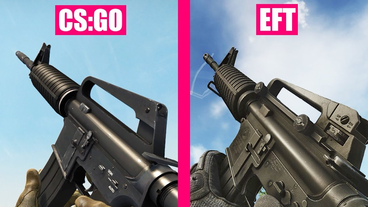Counter-Strike Global Offensive vs Escape from Tarkov Weapons Comparison thumbnail