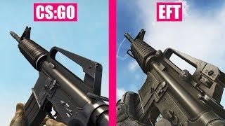 Counter-Strike Global Offensive vs Escape from Tarkov Weapons Comparison