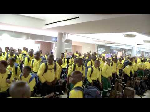 South African firefighters arrive in Edmonton