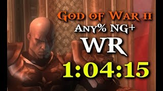 God of War II Any% NG+ in 1:04:15 WR