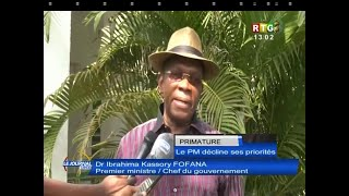 www.guineesud.com – Le PM Kassory Fofana décline ses priorit…