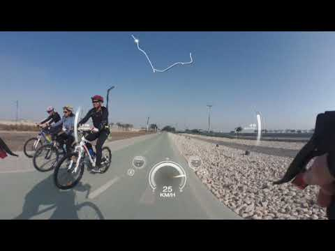 cycling Doha airport cycle track