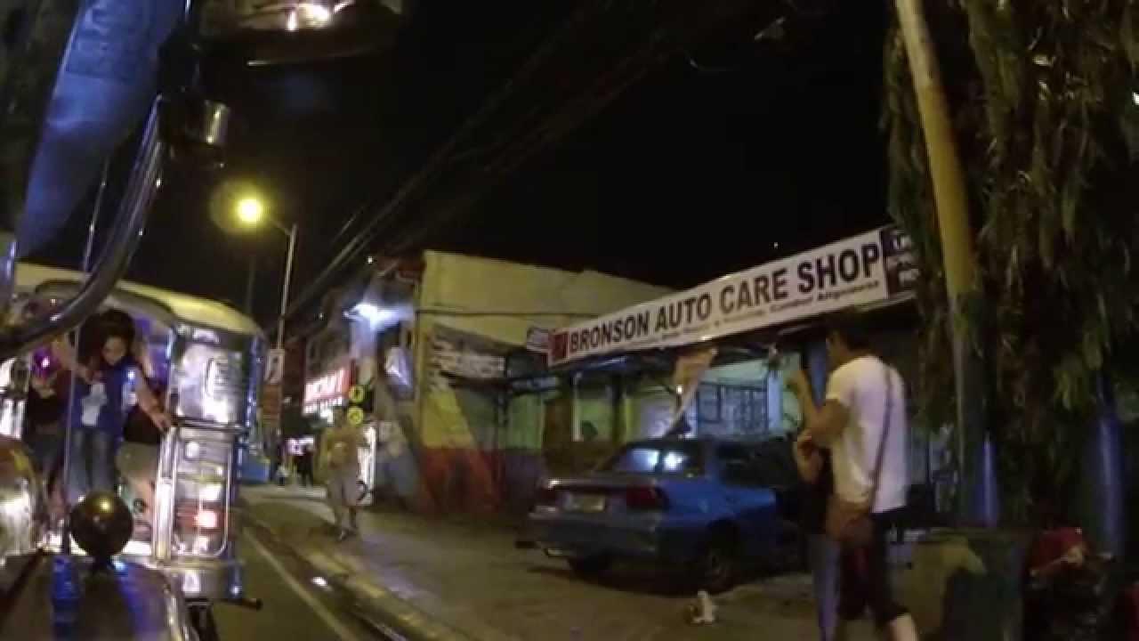 Филиппины супер отдых Транспорт на Филиппинах. Джипни, трайк и улицы Манила ночью 2015 часть 3