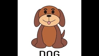 dog draw simple coreldraw