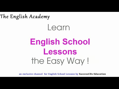 The English Academy - Subscribe to English School Lessons Videos