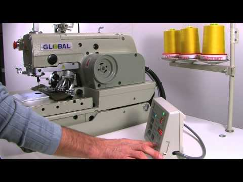 Global BH 9980 Series - Electronic eyelet buttonhole machine