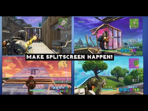 How To Play 2 - 4 Players SPLIT SCREEN On Fortnite Battle Royale | On The Same PS4 Or XBOX ONE