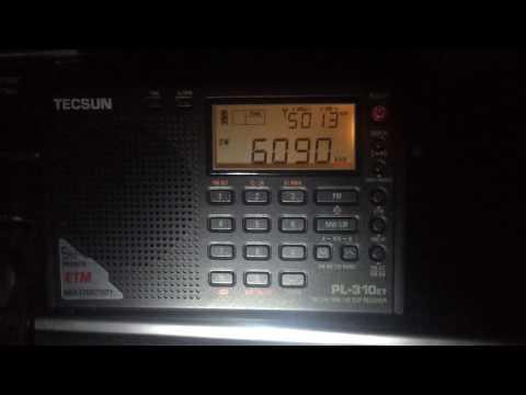 Tecsun PL-310ET first test: Radio Amhara 6090 kHz, Ethiopia, first reception