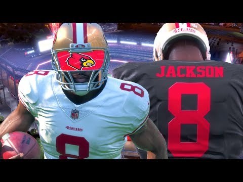 Madden 18 Career Mode - Lamar Jackson Drafted To 49ers! Playing In Preseason!