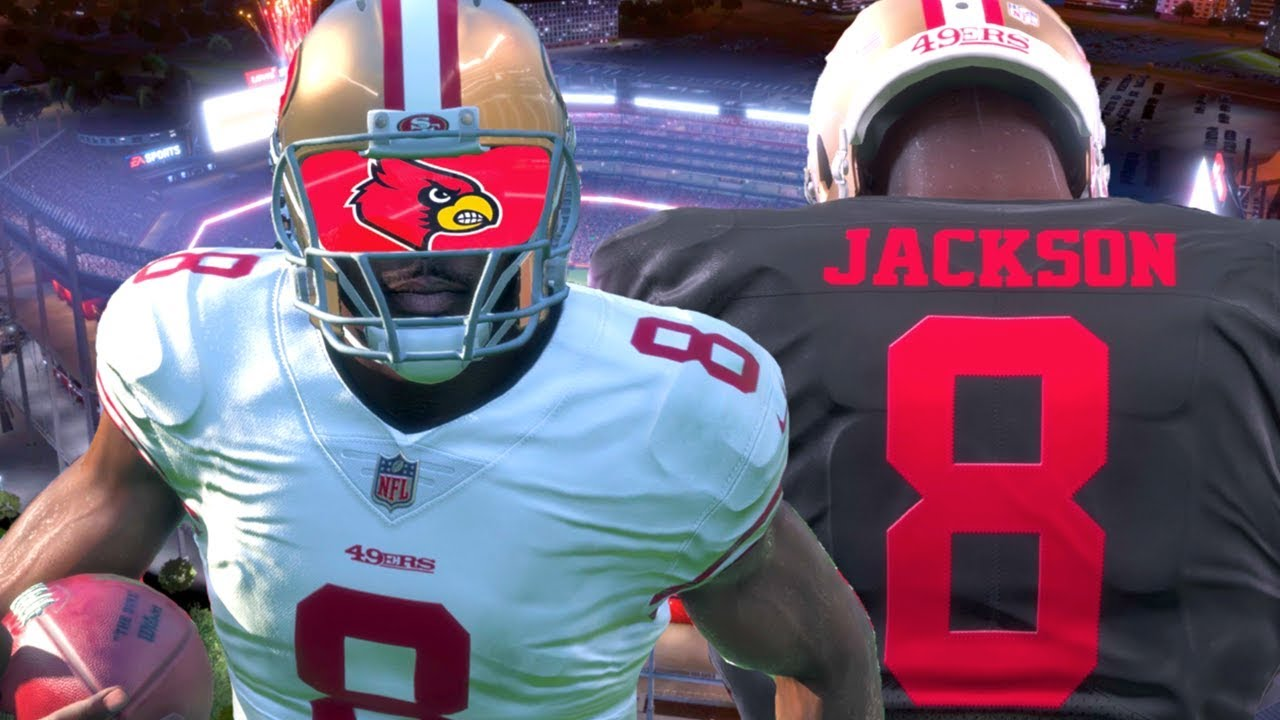 the latest 62a78 08d1e Madden 18 Career Mode - Lamar Jackson Drafted To 49ers! Playing In  Preseason!