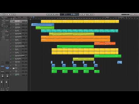 Justice League: Gods and Monsters MIDI mockup - Logic X