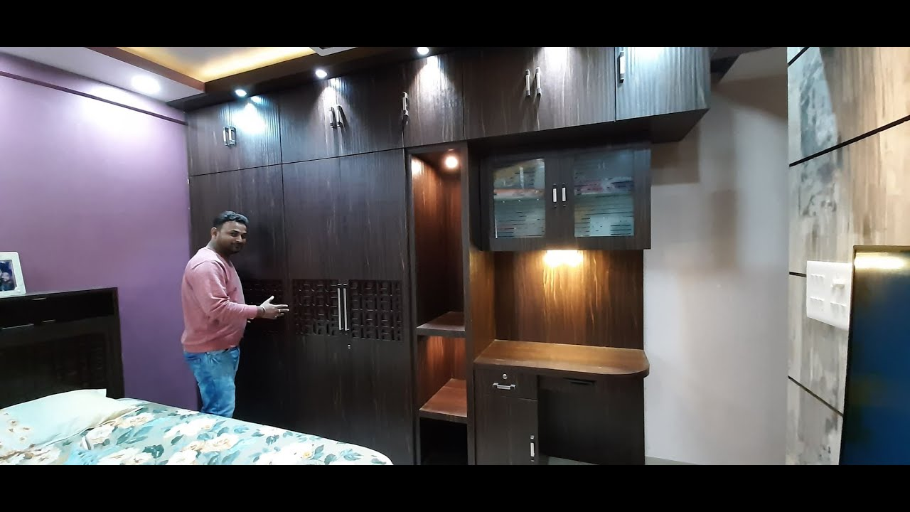 Latest Wardrobe Design For 11 X 10 Bedroom 8 X7 Wardrobe Study Table Design For Bedroom Youtube