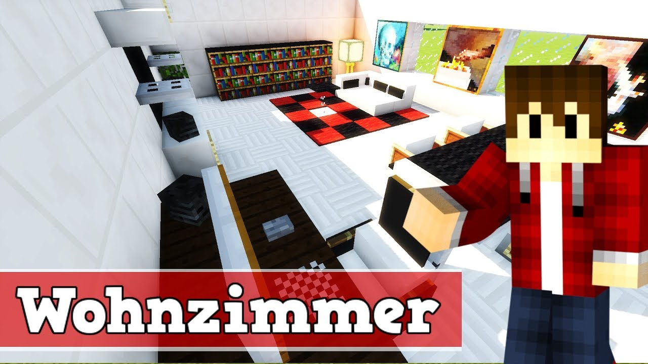 wie baut man ein modernes wohnzimmer in minecraft minecraft wohnzimmer bauen deutsch youtube. Black Bedroom Furniture Sets. Home Design Ideas